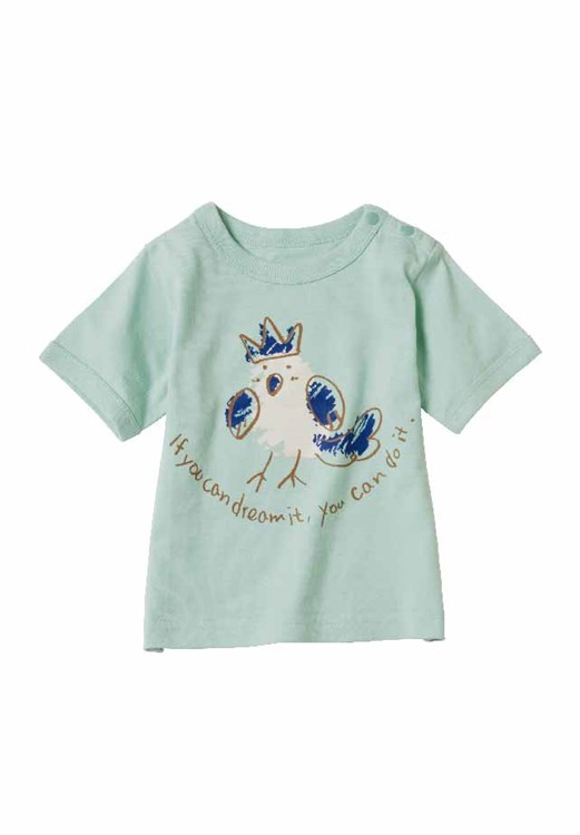 Dreaming Bird Tee in Blue from People Tree