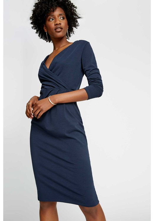 Irene Dress in Navy