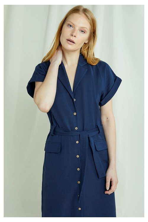 Ada Dress In Navy