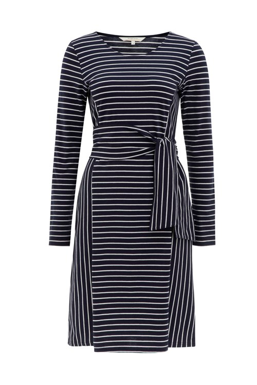 Adina Dress in Navy stripe