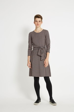 Adina Dress in Pink Stripe