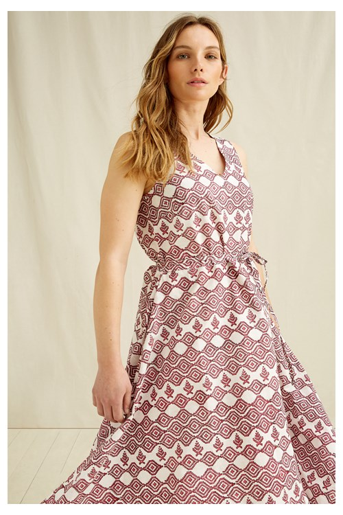 Aidy Block Printed Dress