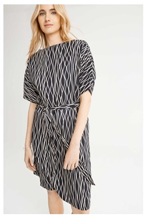 Alaina Abstract Dress in Black