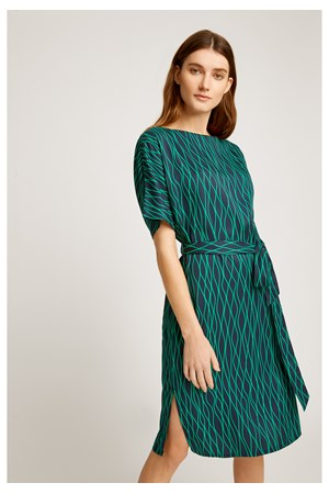 Alaina Abstract Dress in Green
