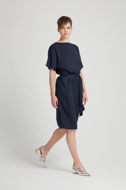 Alaina Dress in Navy