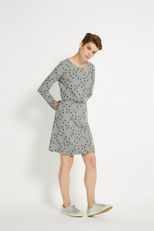 Aleta Dress in Grey melange