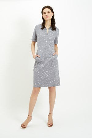 Alexis Shirt Dress in Grey