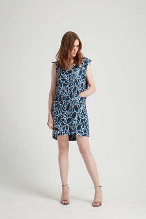 Alison Tunic Dress in Navy Multi