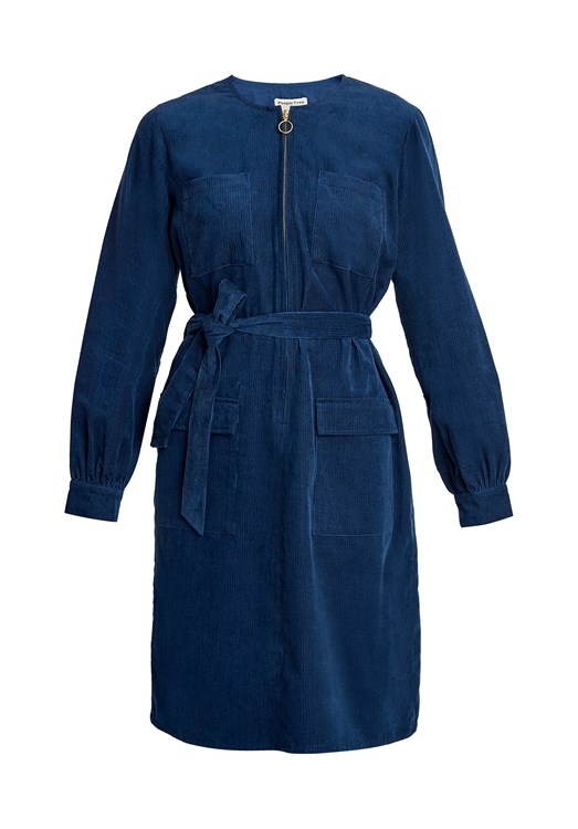 Amalia Corduroy Shirt Dress