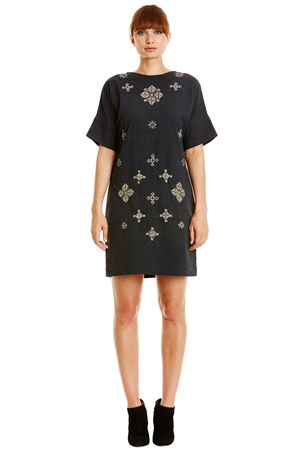 Andrea Embroidered Dress