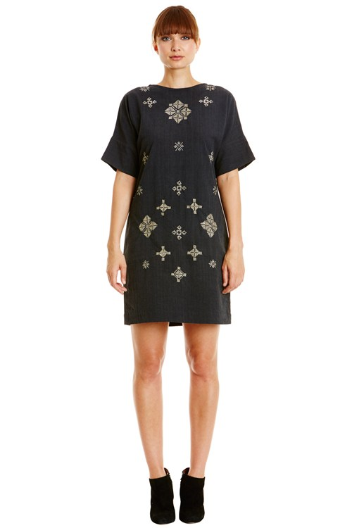 Andrea Embroidered Dress from People Tree
