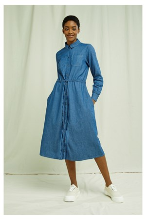 Annie Lightweight Denim Dress