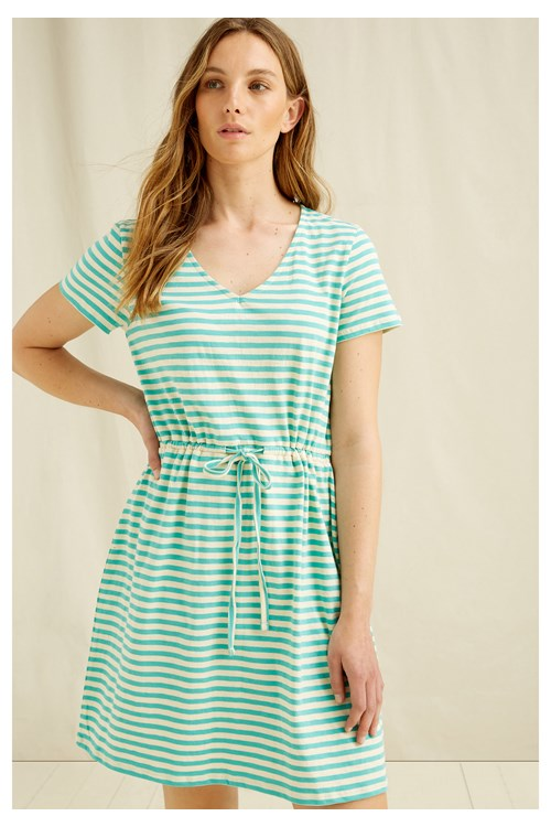 Ashby Stripe Dress In Green