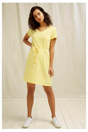 Ashby Stripe Dress In Yellow