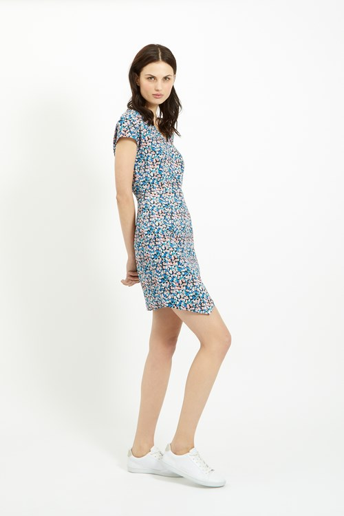 Aspen Dress in Blue Multi
