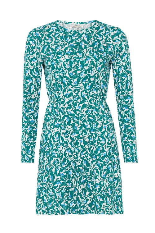 Bianca Green Floral Dress
