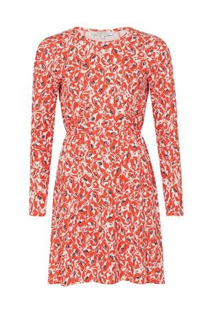 Bianca Orange Floral Dress