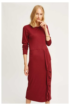 Burgundy Alona Dress