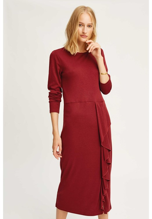 Burgundy Alona Dress from People Tree