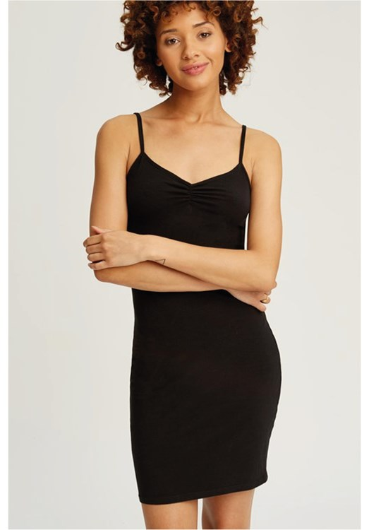 Camisole Slip Dress in Black