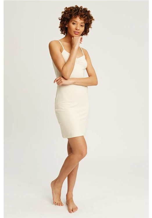 Camisole Slip Dress in Cream from People Tree