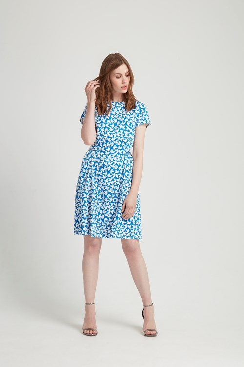 Danielle Dress in Blue from People Tree