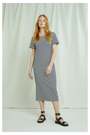 Darika Stripe Dress In Navy