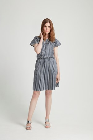 Emma Dress in Navy