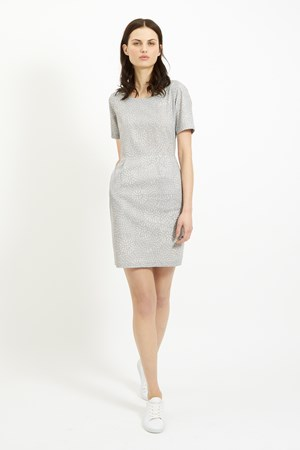 Felicia Pocket Dress in Grey