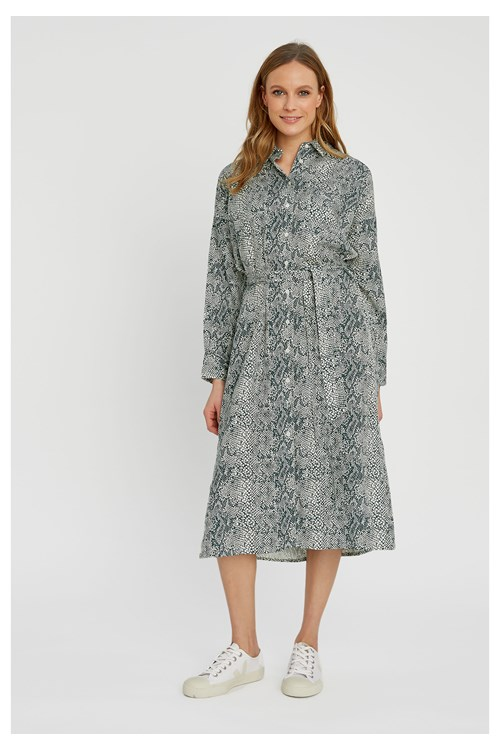 Ginny Snake Shirt Dress from People Tree