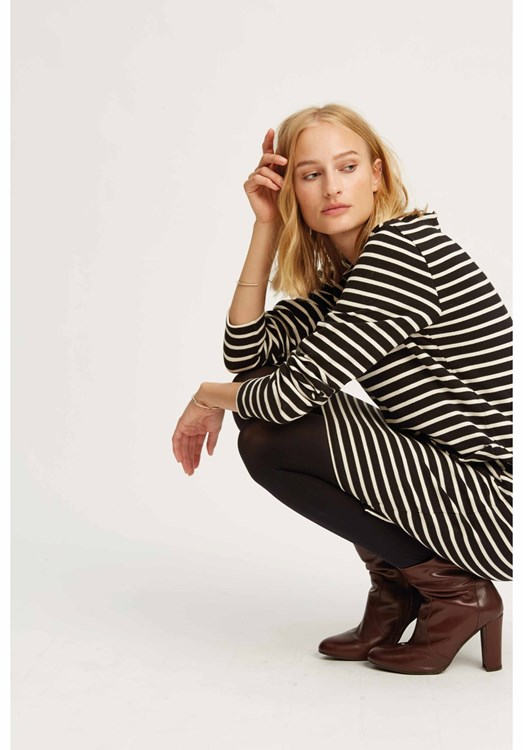 Harper Stripe Tunic Black from People Tree