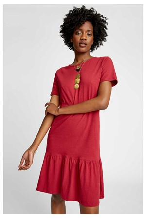 Hope Dress in Tibetan Red