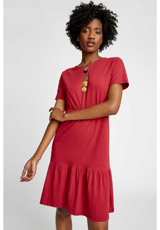 Hope Dress in Tibetan Red from People Tree