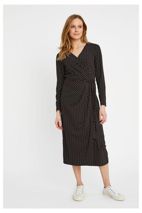 Imogen Dot Wrap Dress from People Tree