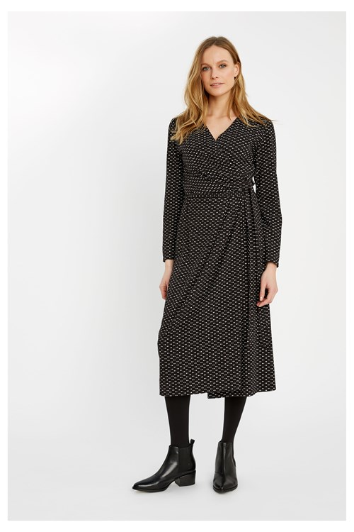 Imogen Dot Wrap Dress