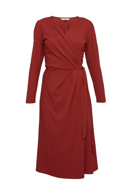 Imogen Wrap Dress in Red