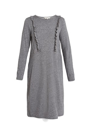 Indria Dress in Grey Melange
