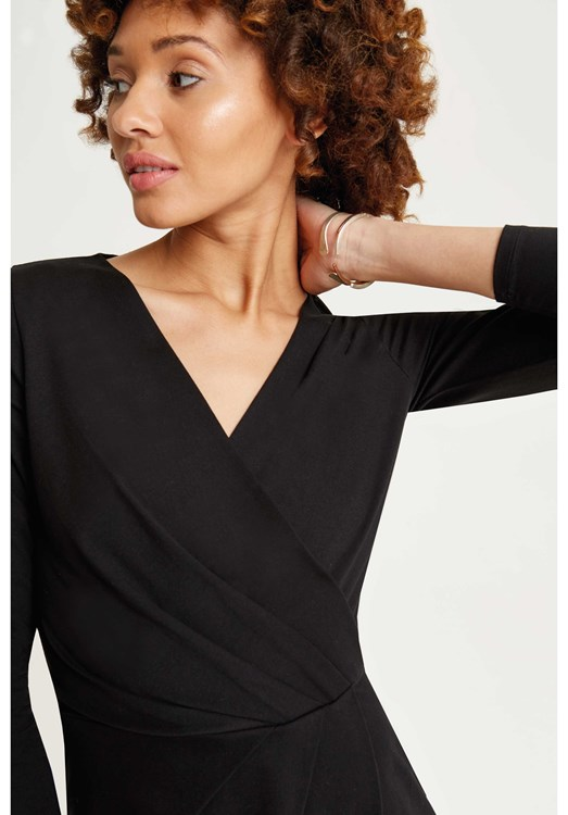 Irene Wrap Dress Black