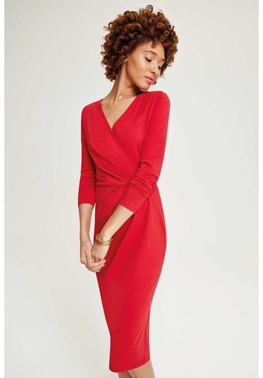 Dresses - Irene Wrap Dress Red
