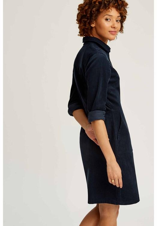 New In - Jaden Corduroy Shirt Dress Navy