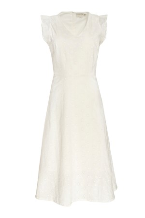 Jessica Broderie Dress In White
