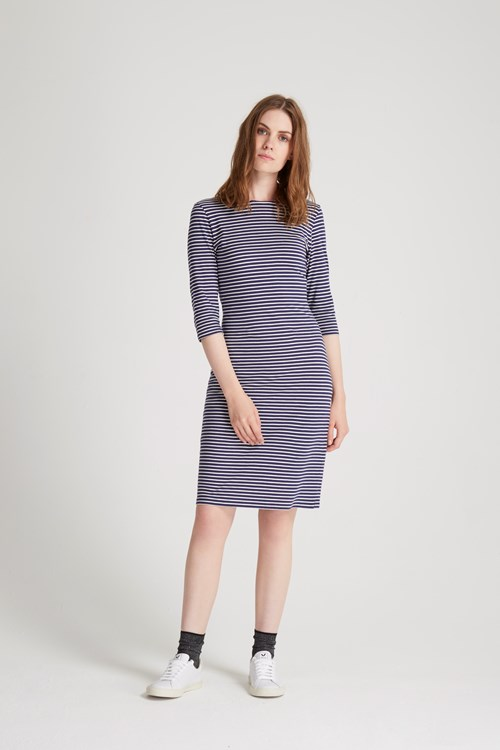 Jocelyn Stripe Fitted Dress