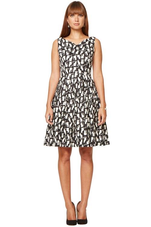 Galerry feline flared dress