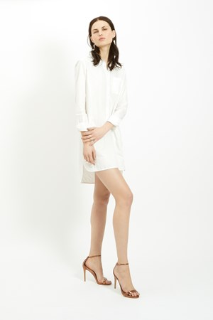 Kendall Shirt Dress in White