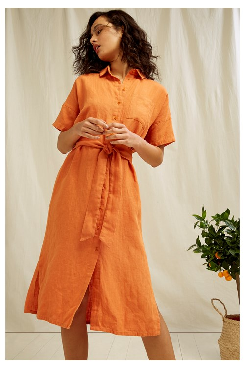 Leanora Linen Dress from People Tree