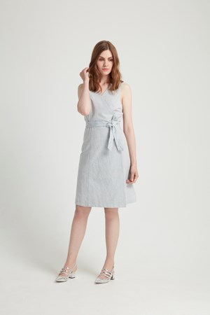 Lena Wrap Dress in Blue
