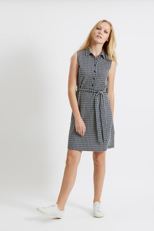 Lenna Shirt Dress in Navy from People Tree