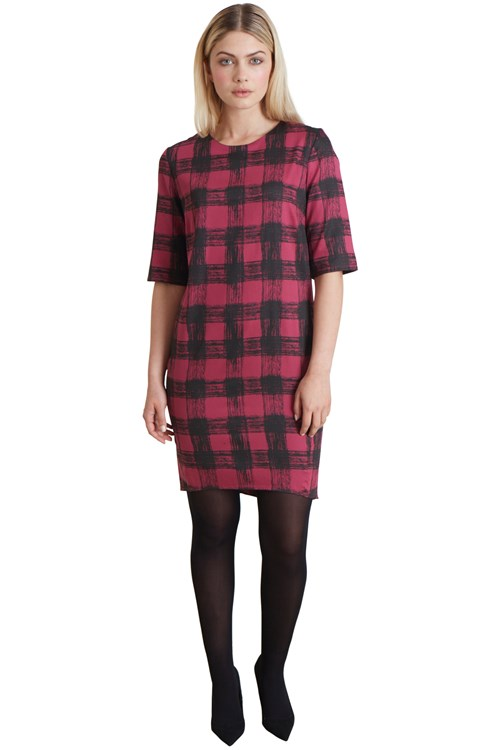 Lizzie Dress in Pink Check from People Tree