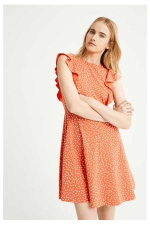 Lulu Floral Dress in Red