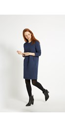 /new-in/marcia-fleece-dress-in-dark-blue-melange